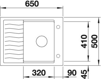 Мойка для кухни Blanco ELON 45 S купить (вид сверху)