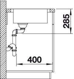Мойка для кухни Blanco CLASSIC 4 S (вид сбоку)