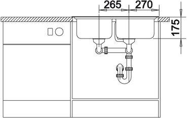 Мойка для кухни Blanco CLASSIC 8 вид спереди