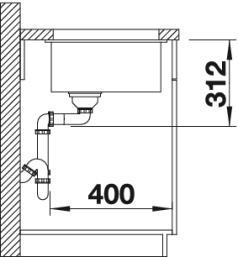 Мойка для кухни Blanco Subline 500-U Silgranit купить (вид сбоку)
