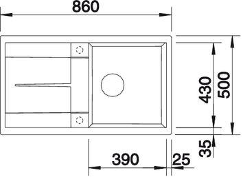 Мойка для кухни Blanco METRA 5 S Silgranit купить (вид сверху)