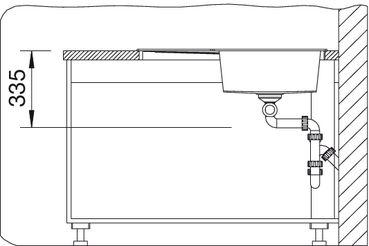 Угловая мойка для кухни Blanco METRA 9 E SILGRANIT® PuraDur® (вид спереди)