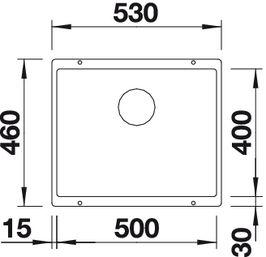 Мойка для кухни Blanco SUBLINE 500-U Silgranit купить (вид сверху)