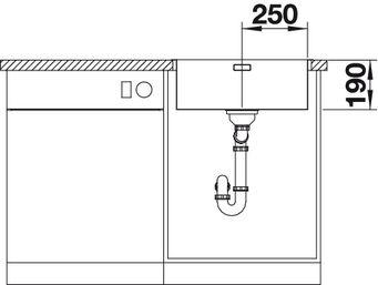Мойка для кухни Blanco ANDANO 500-IF вид спереди