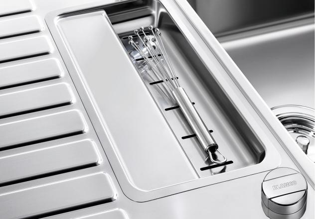 Мойка для кухни Blanco CLASSIC Pro 5 S-IF с перфорированной вставкой в дополнительной чаше