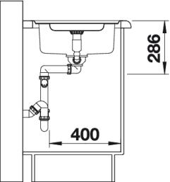 Мойка для кухни Blanco CLASSIC Pro 5 S-IF (вид сбоку)