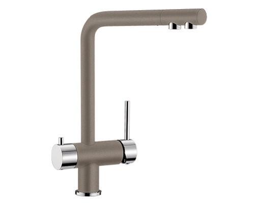 Купить смеситель с питьевой водой Blanco FONTAS Silgranit  ХРОМ / СЕРЫЙ БЕЖ  Артикул 518512