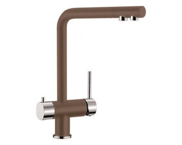 Смеситель с питьевой водой Blanco FONTAS Silgranit  МУСКАТ / ХРОМ (под заказ)  Артикул 521741 купить