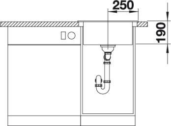 Круглая кухонная мойка Blanco RIONA 45 Silgranit купить (вид спереди)
