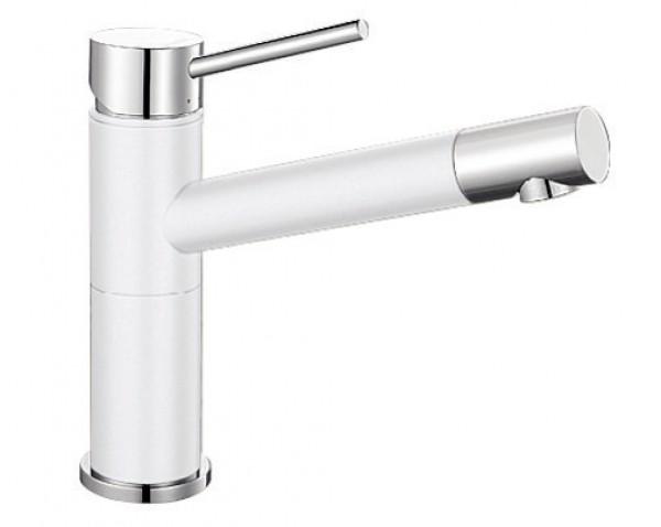 Смеситель для кухни Blanco ALTA Compact Silgranit ХРОМ / БЕЛЫЙ Артикул 515317 купить