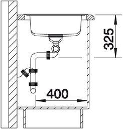 Мойка для кухни Blanco TIPO XL 9 купить (вид сбоку)