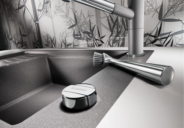 Мойка для кухни Blanco ELON XL 6 S-F Silgranit с широкой площадкой под смеситель и с кнопкой клапана-автомата