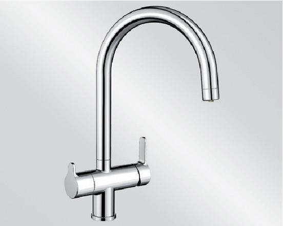 Смеситель под фильтр Blanco TRIMA с краном питьевой воды ХРОМ Артикул 520840 купить