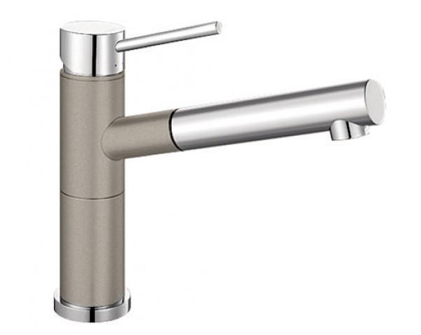 Смеситель для кухни Blanco ALTA Compact Silgranit ХРОМ / СЕРЫЙ БЕЖ Артикул 517634 купить