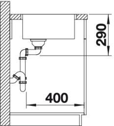 Мойка для кухни Blanco ANDANO 450-IF вид сбоку