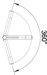 Смеситель для кухни Blanco ALTA Compact Silgranit купить (угол поворота)