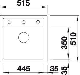 Мойка для кухни Blanco DALAGO 5 (вид сверху)