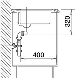 Мойка для кухни Blanco CLASSIC 4 S вид сбоку