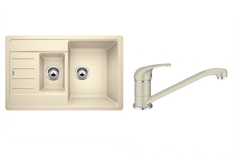 Смеситель Blanco DARAS Silgranit + Мойка Blanco LEGRA 6 S Compact ЖАСМИН Артикул 521305D2 купить