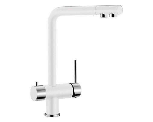 Купить смеситель с питьевой водой Blanco FONTAS Silgranit  ХРОМ / БЕЛЫЙ  Артикул 518506