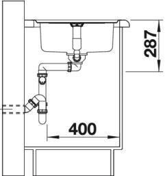 Мойка для кухни Blanco CLASSIC Pro 45 S-IF вид сбоку