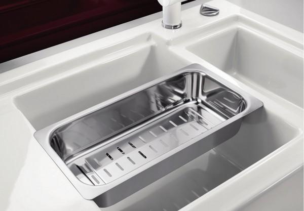 Мойка для кухни Blanco AXON II 6 S с многофункциональным коландером из нержавеющей стали