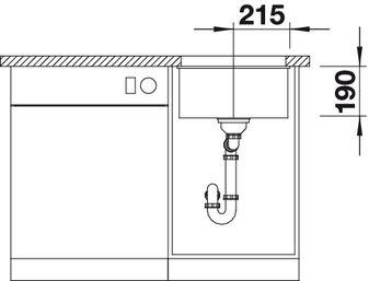 Мойка для кухни Blanco SUBLINE 400-U Silgranit купить (вид спереди)