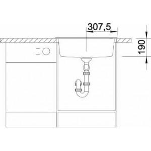 Мойка для кухни Blanco SUBLINE 320-U Silgranit купить (вид спереди)