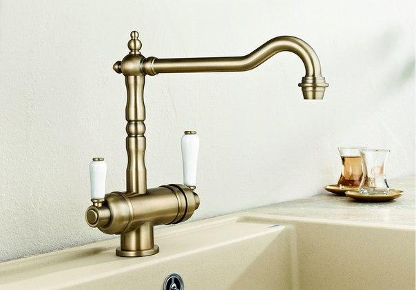 Смеситель с питьевой водой Blanco SORA полированная латунь купить