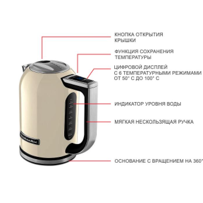 Чайник KitchenAid 5KEK1722EAC КРЕМОВЫЙ с фильтром