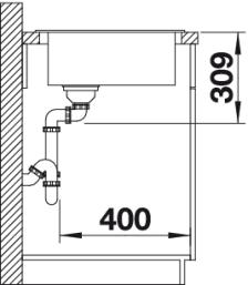 Мойка для кухни Blanco CLASSIC 9 E Вид сбоку