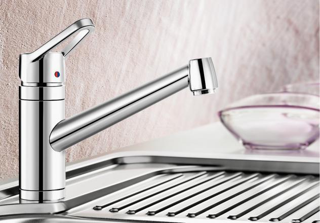 Смеситель для кухни Blanco ACTIS с хромированной поверхностью