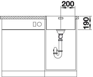 Мойка для кухни Blanco ANDANO 400-IF Вид спереди