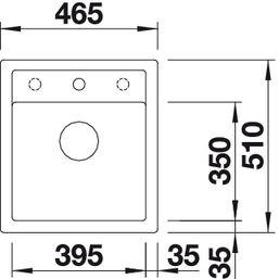 Мойка для кухни Blanco DALAGO 45 Silgranit купить (вид сверху)