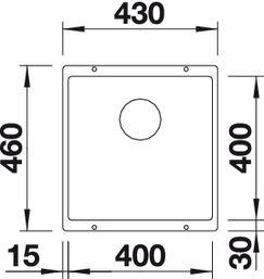 Мойка для кухни Blanco SUBLINE 400-U Silgranit купить (вид сверху)