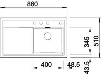 мойка для кухни Blanco ZENAR 45 S купить (вид сверху)