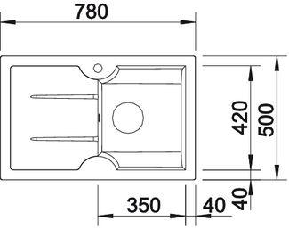 Мойка для кухни из керамики Blanco IDESSA 45 S купить (вид сверху)