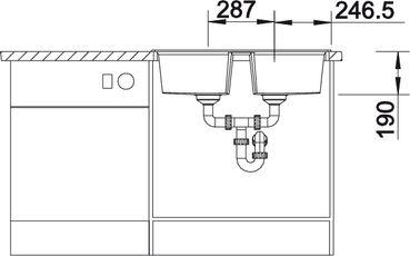 Мойка для кухни Blanco LEXA 8 Silgranit купить (вид спереди)