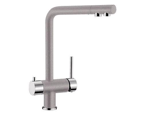 Купить смеситель с питьевой водой Blanco FONTAS Silgranit  ХРОМ / АЛЮМЕТАЛЛИК  Артикул 518504