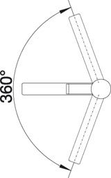 Компактный смеситель Blanco ZENOS Silgranit купить (угол поворота)