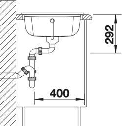 Мойка для кухни из керамики Blanco IDESSA 45 S купить (вид сбоку)