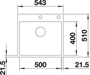 Мойка BLANCO SUBLINE 500-IFA SteelFrame вид сверху